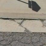 medium class sidewalk crack for repair priority